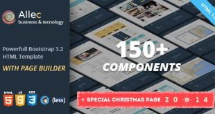 Allec-v1.3-Bootstrap-LESS-Template-with-Page-Builder