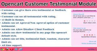Opencart-customer-testimonial-module
