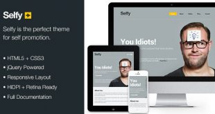 Selfy-Personal-Site-Template